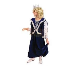Карнавален костюм - Кралица - синя