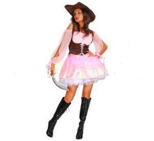 Карнавален костюм - Пиратка -розова