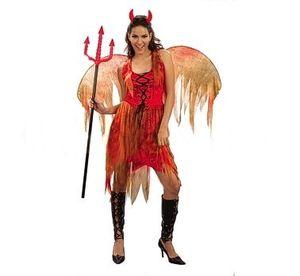 Карнавален костюм - Дяволица с крила