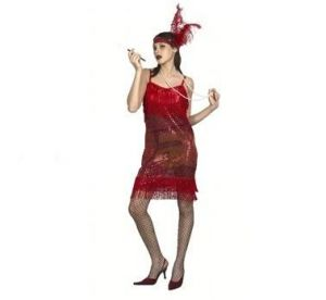 Карнавален костюм - Ретро дама-червена