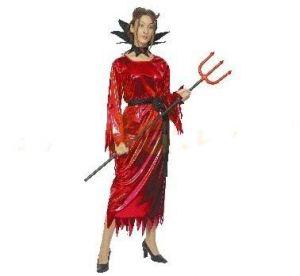 Карнавален костюм - Дяволица-блестяща
