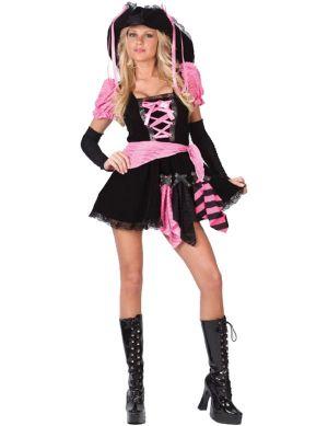 Карнавален костюм - Секси розова пиратка