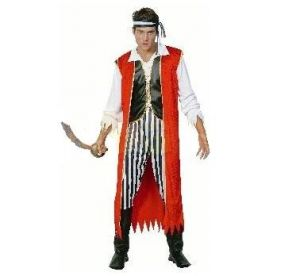 Карнавален костюм - Пират-червен