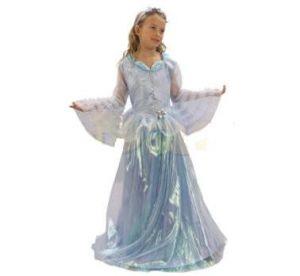 Карнавален костюм - Принцеса - синя-дълга