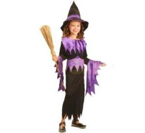 Карнавален костюм - Вещица-лилава