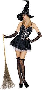 Карнавален костюм - Мистична секси вещица